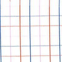 Navy Plaid Custom Shirt Fabric